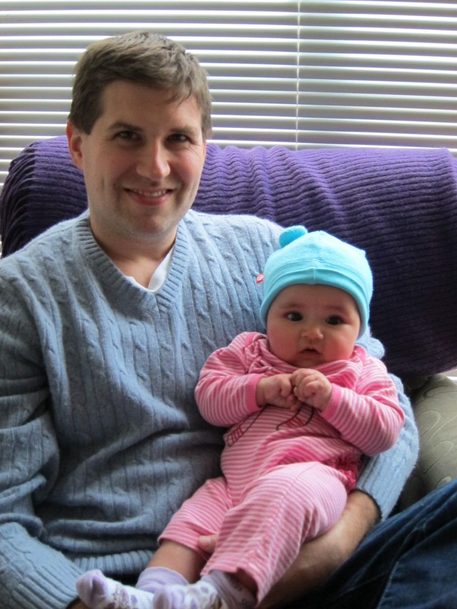 2011: With Kaelyn (4 months)