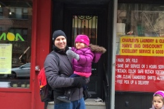 2014: In Front of Our Old Apt in NYC!