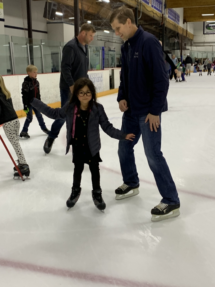 2019: Addy Birthday at Ice Skating Rink
